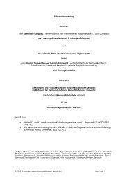 Leistungsvertrag [resp - Region Emmental