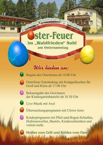 Oster-Feuer - Waldfrieden Suhl