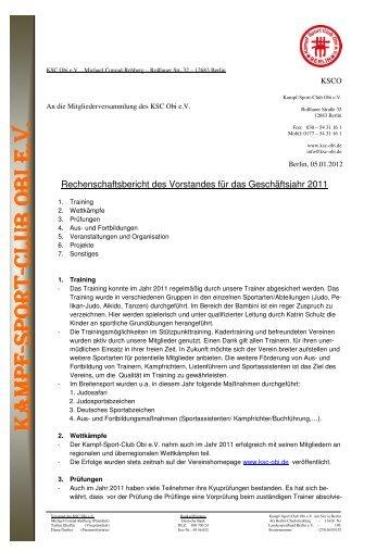 18 Bericht Vorstand des KSC Obi - 2012-01-04 - KSC Obi eV 帯