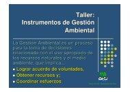 Taller: Instrumentos de Gestión Ambiental