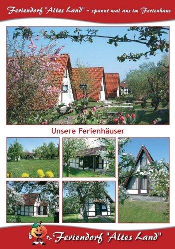 Unsere Ferienhäuser - Feriendorf Altes Land