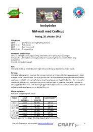 Innbydelse NM-natt med Craftcup fredag, 28. oktober 2011
