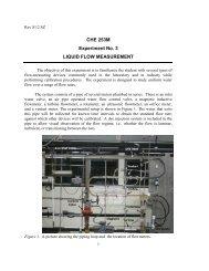 CHE 253M Experiment No. 3 LIQUID FLOW MEASUREMENT