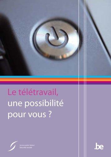 """""""Le télétravail, une possibilité pour vous ?"""" (© 2010) (.pdf)"""