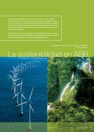 La sostenibilidad en ABB - Contact ABB