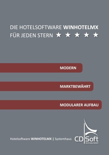 WINHOTELMX Broschüre (PDF) - Hotelsoftware