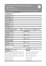 Gäste durch Online-Buchung - Erhebungsbogen