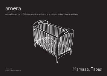 cot • culla/base minore • feldbett/juniorbett • choza ... - Mamas & Papas
