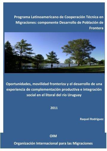 Documento elaborado por la Consultora Raquel Rodriguez ... - CEFIR