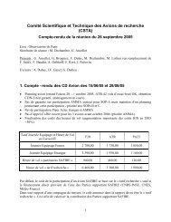 Compte-rendu de la réunion du 26 septembre 2005 - Division ...