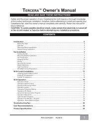 TERCERA ™ Owner's Manual - Del Mar Fans and Lighting
