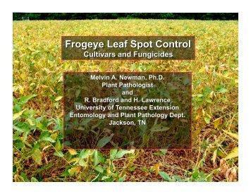 Soybean cultivar reaction to frogeye leaf spot - SoyBase