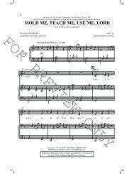 MOLD ME, TEACH ME, USE ME, LORD - Pine Lake Music