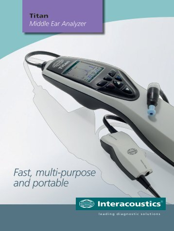 Middle Ear Analyzer - Sonorom