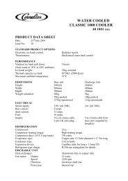 CLASSIC 1000 COOLER WC Datasheet.pdf - IMI Cornelius
