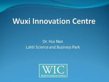 Wuxi Innovation Centre