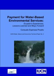 Payment for water-based environmental services : Ecuador's ... - IUCN