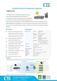 Download data sheet - CTC Union Technologies Co.,Ltd.