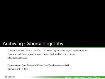 Archiving Cybercartography