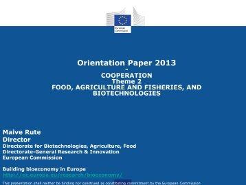 Orientation Paper 2013