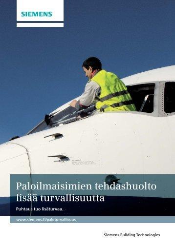 Paloilmaisimien tehdashuolto lisää turvallisuutta - Siemens