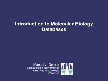 Molecular Biology Databases - CNB - Protein Design Group