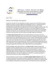 W4A's April 7, 2011 Response to the House Budget - Washington ...