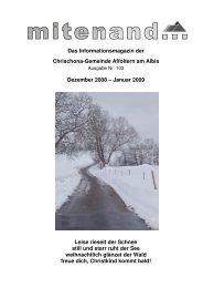 Das Informationsmagazin der Chrischona-Gemeinde Affoltern am ...