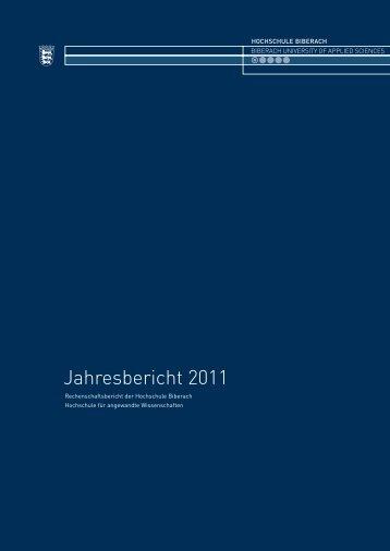 Jahresbericht 2011 - Hochschule Biberach