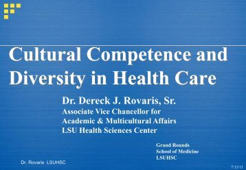 Cultural Competence and Diversity in Health Care 2011 Grand ...