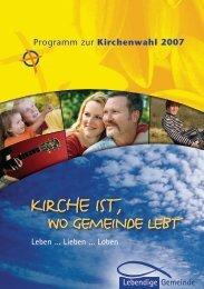 Unser Wahlprogramm 2007 als PDF - Lebendige Gemeinde