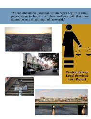 CJLS Annual Report 2011 - Legal Services of New Jersey