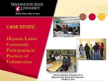 Hispanic/Latino Community Participating in Volunteerism (PDF)