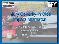 Injury Severity in Side Impact Mismatch - San Diego Health Reports ...