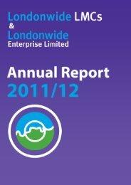 Annual Report 2011/12 - Londonwide LMCs