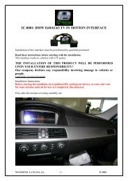 IC-8001: BMW E60/61/63 TV IN MOTION INTERFACE - Novosonic