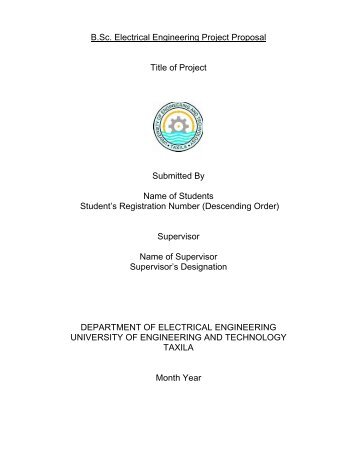 B.Sc Final Year Project Proposal Format - University of Engineering ...