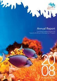 CRTR 2008 Annual Report.pdf - Coral Reef Targeted Research