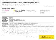 Preisliste Kunden für Gelbe Seiten regional 2012