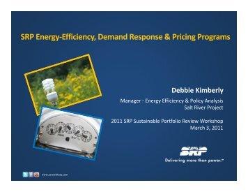 SRP Energy Efficiency Demand Response ... - Salt River Project