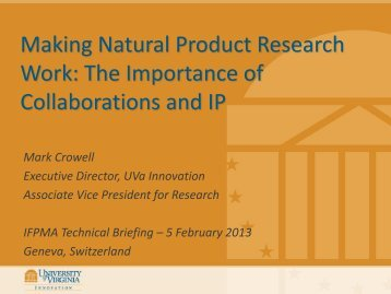 Mark Crowell - IFPMA