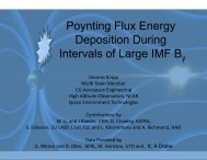 Poynting Flux Energy Deposition During Intervals of Large ... - Nasa