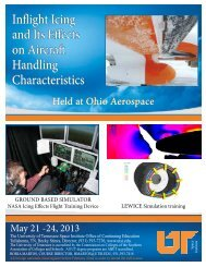 Inflight Icing and Its Effects on Aircraft Handling Characteristics ...