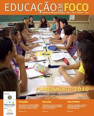 PLANEJAMENTO 2010 - Prefeitura de Cajamar