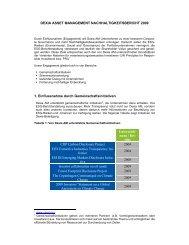 DEXIA ASSET MANAGEMENT NACHHALTIGKEITSBERICHT 2009 ...