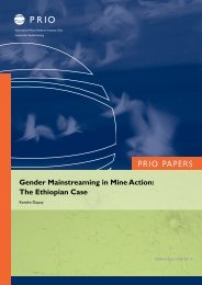 Gender Mainstreaming in Mine Action - PRIO