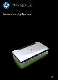 HP Officejet 100 Mobile Printer L411 User Guide ... - Centrum Druku