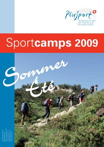 Sport Camps - PLUSPORT Behindertensport Schweiz