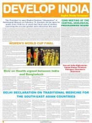 Develop India Year 5, Vol. 1, Issue 236, 10 - Developindiagroup.co.in