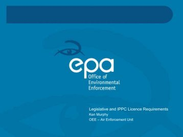 Legislative and IPPC Licence Requirements